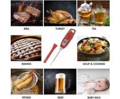 Numérique alimentaire Thermomètre de cuisson instantanée viande thermomètre pour la cuisine BBQ_Kiliaadk37 - Accessoires de rangement