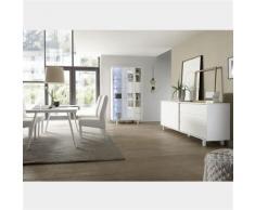 Nouvomeuble - Salle à manger design blanc laqué palazio - Tables salle à manger