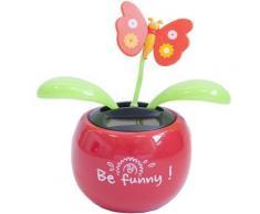 Plante Fleur Solaire Artificielle Dansante - Rouge - Funny - Objet à poser