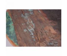 Table ronde de salle à manger bar 75 cm bois de manguier métal désign - Tables salle à manger