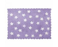 Tapis enfant coton étoiles Eden Lilipouce Mauve 120x160 cm - Tapis et paillasson
