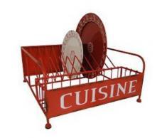 Egouttoir à vaisselle vintage rouge - Aide culinaire