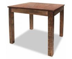 vidaXL Table de salle à manger Bois de récupération massif 82x80x76 cm - Objet à poser