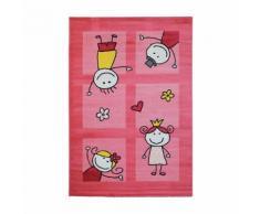 Tapis rose pour chambre de bébé mila - Tapis et paillasson