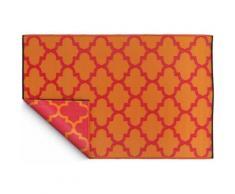 Fabhabitat - Tapis intérieur extérieur Tangier orange et rouge 150 x 90 cm - Tapis et paillasson