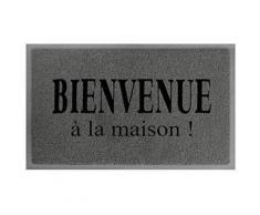 Tapis deco 1740411 maison tapis d'entrée pvc gris/noir 75 x 45 x 75 cm - Accessoires de rangement