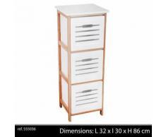 meuble colonne de salle de bain en bois design tiroirs armoire etagere chambre - Accessoires salles de bain et WC