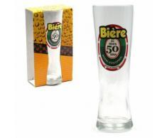 Verre à Bière - 50 Ans - Verrerie