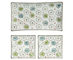 Table Passion - Coffret Choshi 3 Plateaux: 1 Rect.15X26Cm Et 2 Carres 11,5Cm - platerie, service
