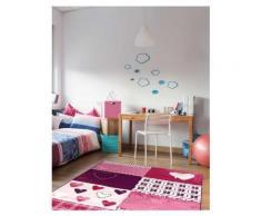 Tapis chambre filles BAMBINO COEUR Tapis Enfants par Dezenco 160 x 230 cm - Tapis et paillasson