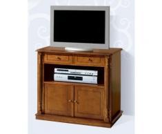 table tv hêtre massif en mdf avec 2 portes et 2 tiroirs, 79 x 78 x 40 cm -pegane-table tv hêtre massif en mdf avec 2 portes et 2 tiroirs, 79 x 78 x 40 cm -pegane- - meuble tv
