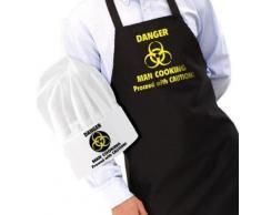 Gift house int -tablier et toque de cuisinier danger man cooking - Accessoires de rangement