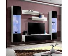 paris prix - meuble tv mural design 'fly iii' 260cm noir & blancparis prix - meuble tv mural design 'fly iii' 260cm noir & blanc - autres