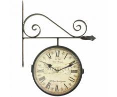 Horloge De Gare Ancienne Double Face Botanique 24Cm - Décoration murale