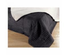 Couvre-lit Louvy anthracite 180 x 200 cm Les Ateliers du Linge - Linge de lit