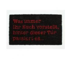 Humour Paillasson Essuie-Pieds - Was Immer Ihr Euch Vorstellt, Hinter Dieser Tür Passiert Es, Retro (40x70 cm) - Tapis et paillasson