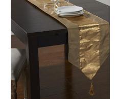 Chemin de table de style européen avec gland en polyester doré - Autres