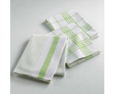 Torchons /3 50 x 70 cm coton tisse pratico Anis - Linge de table