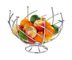 Grande Corbeille à fruits Spirale Métal Chromé - Diamètre 30 cm - platerie, service