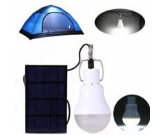 2pcs Lampe solaire portative 130LM avec panneau d'énergie pour cuisine travail camping - Suspensions et plafonniers