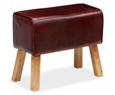 Meelady Banc Cuir Véritable pour Couloir, Salon ou Salle à Manger Marron 60 x 30 x 50 cm - Chaise