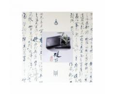 Tableau toile décoration murale avec cadre motif chinois 60x60cm DEC06010 - Décoration murale