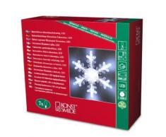 KONSTSMIDE 4438-203 FLOCON ACRYLIQUE AVEC VENTOUSE + 7 LED BLANC 1,5 V - Appliques et spots