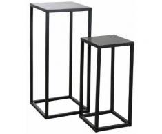Sellettes en métal et pierre (lot de 2) - Tables d'appoint
