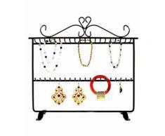 Porte bijoux porte bracelet et boucles dressing support bijoux Noir - Objet à poser