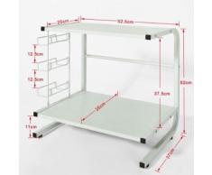 SoBuy® Armoire de cuisine, mini-tablette,meuble de rangement,étagère,FRG092-N FR - Meubles de cuisine