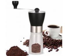 Homdox Moulin à café manuel manuel en acier inoxydable UK plug - Expresso et cafetière
