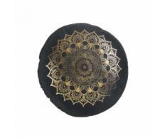 Coussin rond velours 40 cm Nebulis noir - Textile séjour