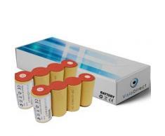 Lot de 2 batteries pour Karcher k85 4.8V 2000mAh Balai électrique - Visiodirect - - Chargeurs, batteries et socles