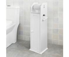 SoBuy® Armoire Salle De Bain Toilette Étagère Support Papier Wc,FRG135-W FR - Meubles de salle de bain