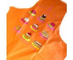Les Trésors De Lily [M5769] - Tablier créateur 'La Patisserie Française' orange - Autres