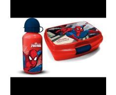 Gourde et lunch box - Imprimé Spiderman - Rouge - Objet à poser