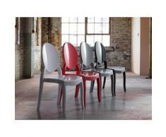 Chaise de salle à manger - plastique rouge - Merton - Chaise