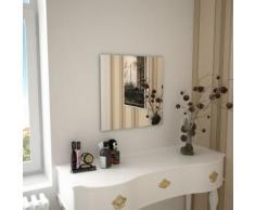 Miroir Mural Carré pour Chambre à Coucher, Salon ou Dressing 50 x 50 cm Verre Modèle 2 - Objet à poser