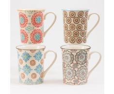 Table Passion - Coffret 4 Mugs Boheme - vaisselle