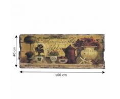 Tableau Peinture Impression sur Bois 100 cm x 40 cm - Décoration murale