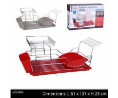 égouttoir a vaisselle pro pour couvert de cuisine decoration sechage couvert couleur rouge - Aide culinaire