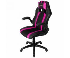 Mars Gaming MGC2BPK - Chaise de Jeu Professionnelle avec Roues (Inclinaison réglable et Hauteur, appuie-tête rembourré, accoudoirs rembourrés et réglables, Ergonomique), Noir et Rose - Chaise