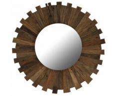 Miroir Mural Bois de Traverses Massif pour Salle de Bain, Chambre à Coucher ou Dressing 70 cm - Objet à poser