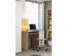 Paris prix - bureau enfant 'dino' 45cm chêne & blanc - Bureaux