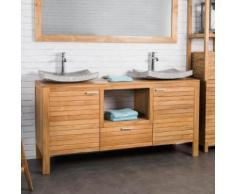 Meuble sous vasque en teck COURCHEVEL 160 - Installations salles de bain
