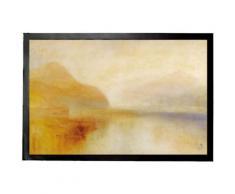 Joseph William Turner Paillasson Essuie-Pieds - Inverary Pier, Loch Fyne, Matin, 1840 - 1850 (60x40 cm) - Tapis et paillasson