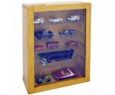Watsons - COLLECTION - Vitrine Collectionneur murale 4 etageres - finition naturelle - Vitrines