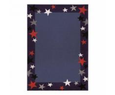 Tapis enfant garçon Just Stars par Wecon Bleu 80x150 - Tapis et paillasson