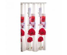 rideau de douche textile 180x200cm douceur d'interieur design coquelicots - Accessoires salles de bain et WC