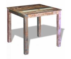 Table de salle à manger Bois de récupération massif 80x82x76 cm - Tables salle à manger